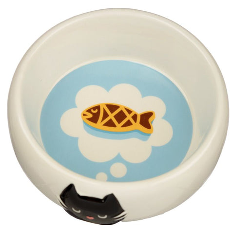 Feline Fine Ceramic Pet Cat Bowl / Dish
