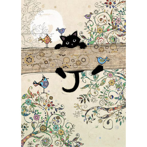 Bug Art Luxury Greetings Card - Branch Kitty