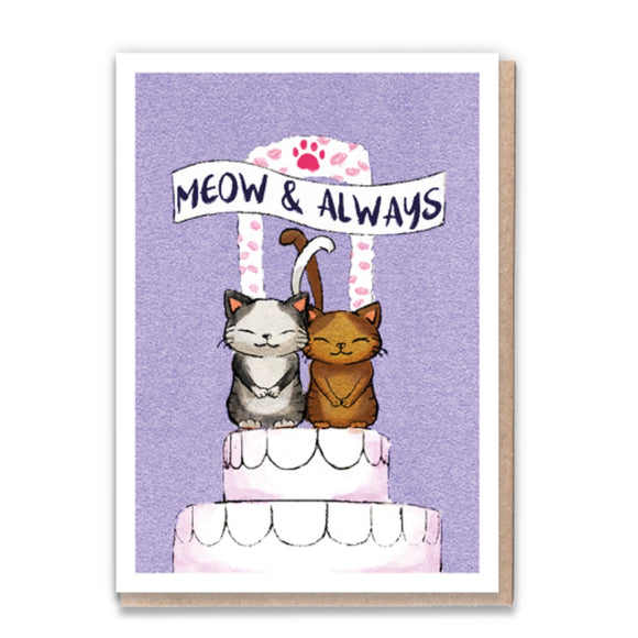 1 Tree Cards Cat Greetings - Meow & Always