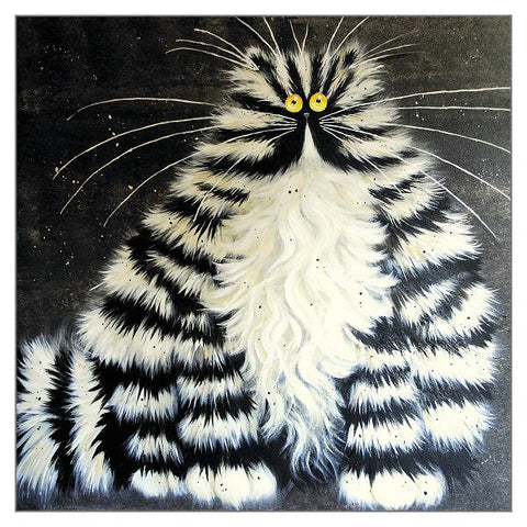 Kim Haskins Cat Greetings Card - Bert