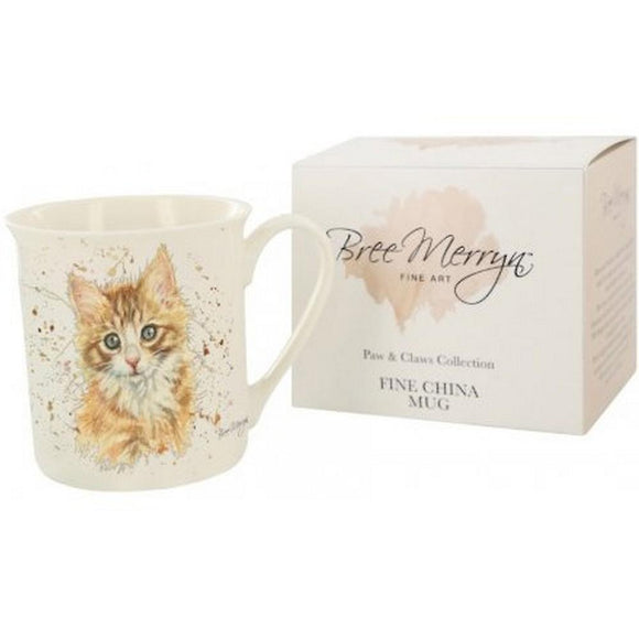 Bree Merryn Paws & Claws Ginger Kitten Mug