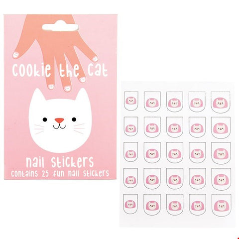 Cookie the Cat Nail Stickers (pack of 25)