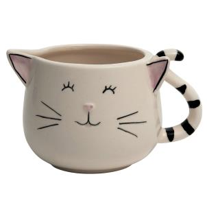 Cheeky Cat Ceramic Mini Ornamental Jug