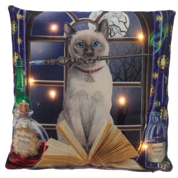 Lisa Parker Cat Hocus Pocus LED Lights Cushion