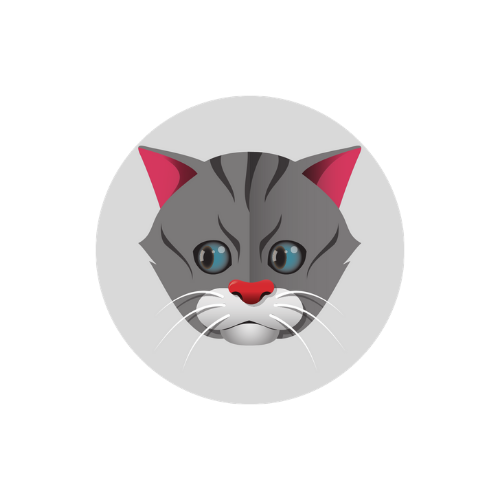 Exclusive Design! 2.5mm Cat Badge - Grey Tabby Cat