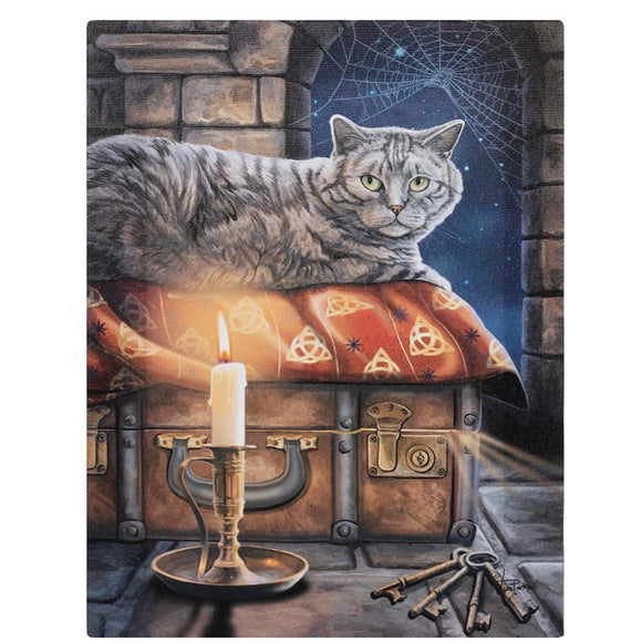 Lisa Parker The Keeper of Secrets Canvas Cat Plaque