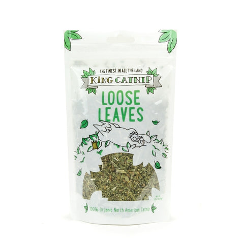 King Cat Loose Organic Catnip Leaves 1.25 oz