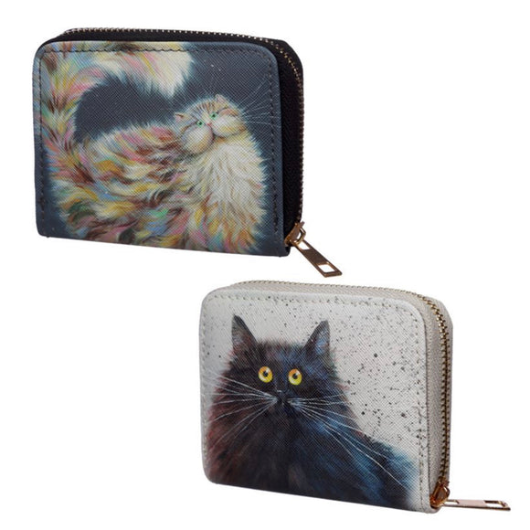 Kim Haskins Cat Zip Around Wallet / Purse