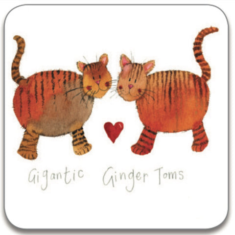 Alex Clark Single Coaster - Gigantic Ginger Toms