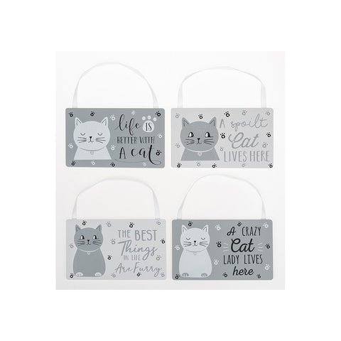 Cats Whiskers Hanging Wooden Plaque - 4 Choices