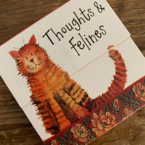 Alex Clark Magnetic Mini Notepad - Thoughts & Felines