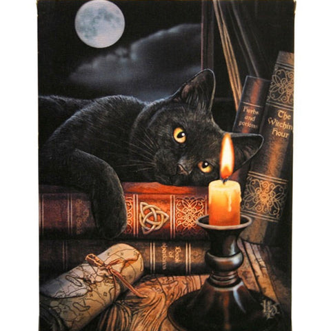 Lisa Parker Witching Hour Canvas Cat Plaque