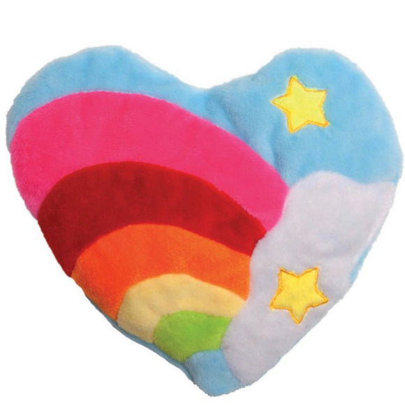 Rainbow Heart Cat Toy with Silvervine and Catnip