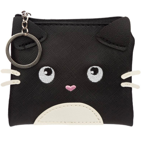 Feline Fine Black Cat Coin Purse