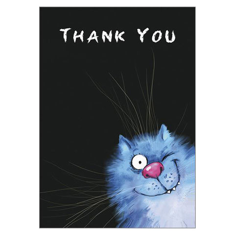 'Thank You' Cat Large Greetings Card - Rita Zeniuk