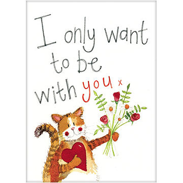 Alex Clark Animal Antics Card - Bouquet