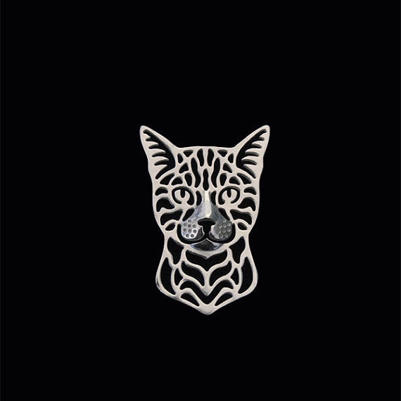 Bengal Cat Pin Badge / Brooch - 4 Colours