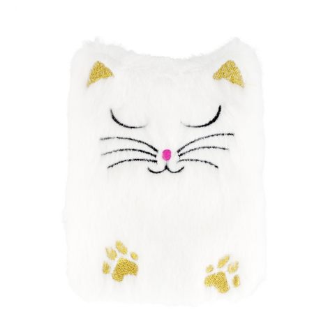 Self Heating Reusable Hand Warmer - Fluffy White Cat