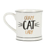 Sass & Belle Crazy Cat Lady Porcelain Mug, Gift Boxed