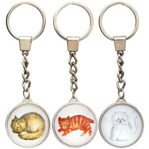 Cuddly Cat Keyring - 3 Designs