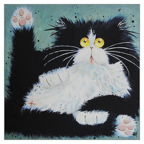 Kim Haskins Cat Greetings Card - Can I Help You?