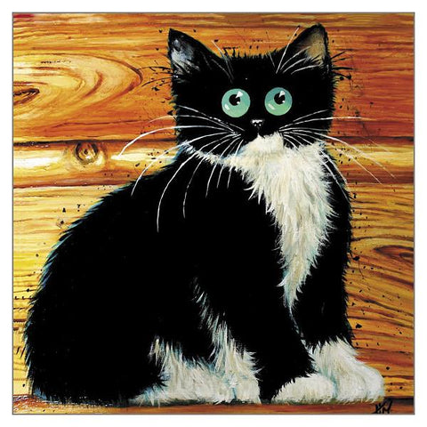 Kim Haskins Cat Greetings Card - Bonington