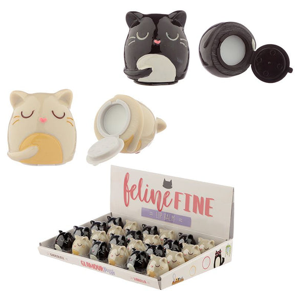 Feline Fine Chocolate or Vanilla Lip Balm