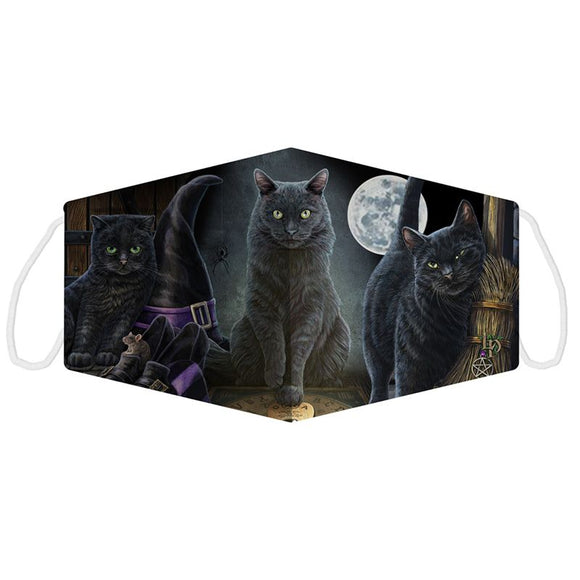 Lisa Parker Black Cats Face Covering - Large