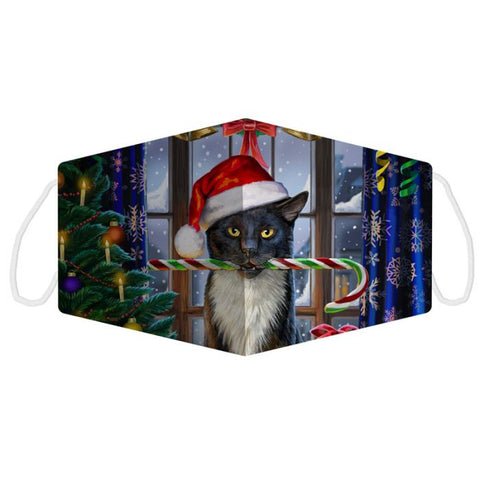 Lisa Parker Christmas Cat Face Covering - Large