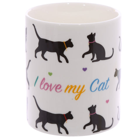 """I Love My Cat"" Fine Bone China Ceramic Mug, Boxed"