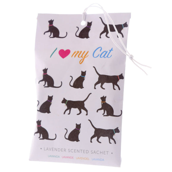 I Love My Cat Silhouette Lavender Scented Sachet