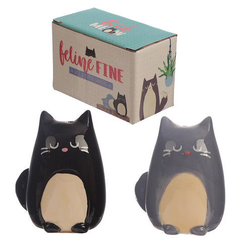 Feline Fine Cat Salt and Pepper Cruet Set