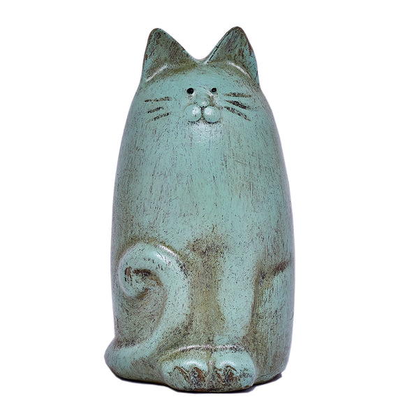 Country Art Slim Cat Ornament Aqua