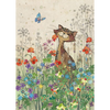 Bug Art Luxury Greetings Card - Cat Meadow