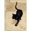 Bug Art Luxury Greetings Card - Black Cat