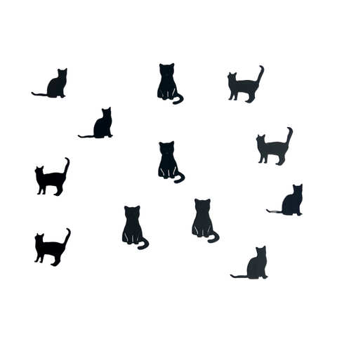 Die Cut Cat Toppers for Crafts, Pack 12 (Minis 2)