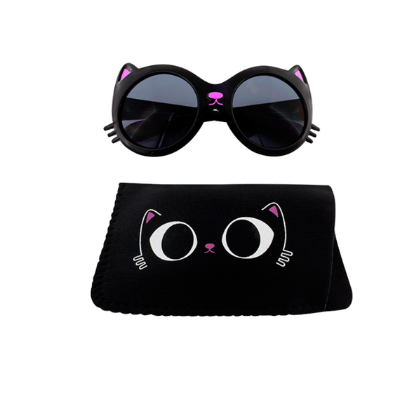 Sunglasses for Children - Black Kitty Cat