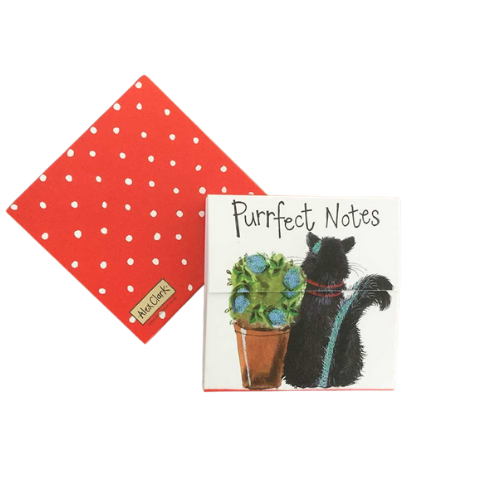 Alex Clark Magnetic Mini Notepad - Purrfect Notes