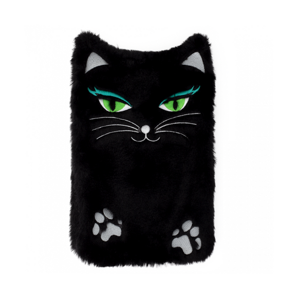Hotly - Fluffy Black Cat Hot Water Bottle