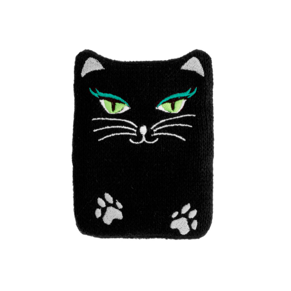 Self Heating Reusable Hand Warmer - Fluffy Black Cat