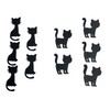 Die Cut Cat Toppers for Crafts, Pack 10 (Sit/Stand)