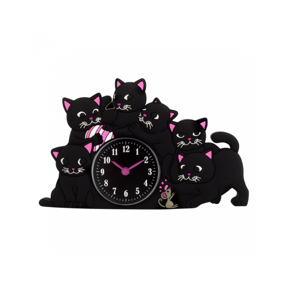 Funny Black Cats Cute Alarm Clock