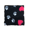 Non-Slip Hygienic Vet Bed - Charcoal, Hearts & Paws