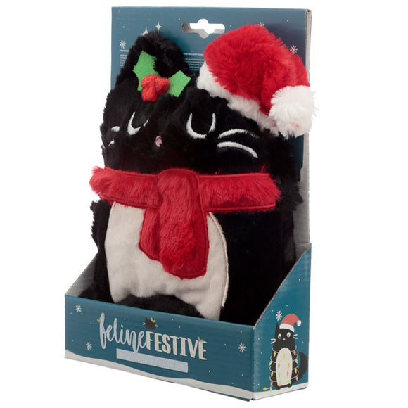 Plush Feline Festive Christmas Snuggable Heatable Cat