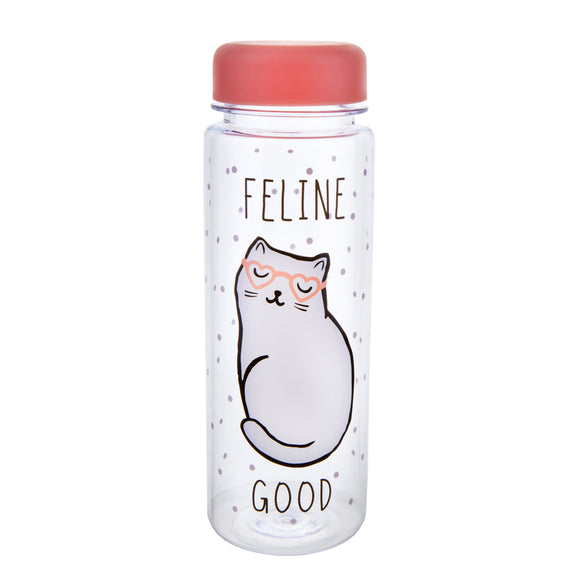 Sass & Belle Feline Good Clear Water Bottle