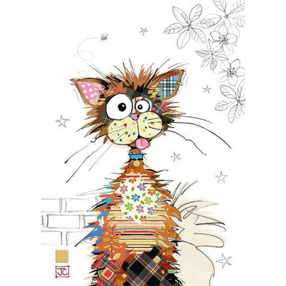 Bug Art Luxury Greetings Card - Ziggy Cat