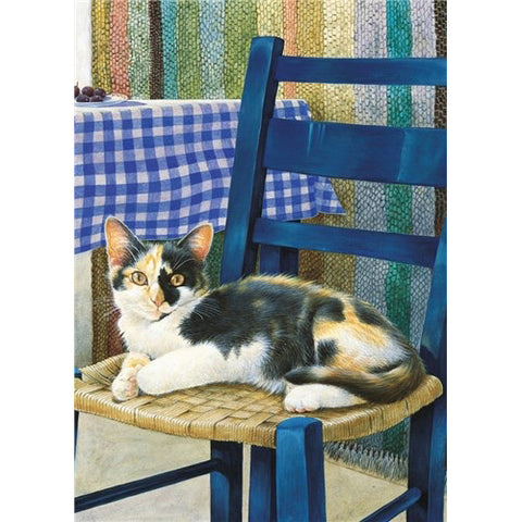 Lesley Anne Ivory Greetings Card - Mikado on a Chair