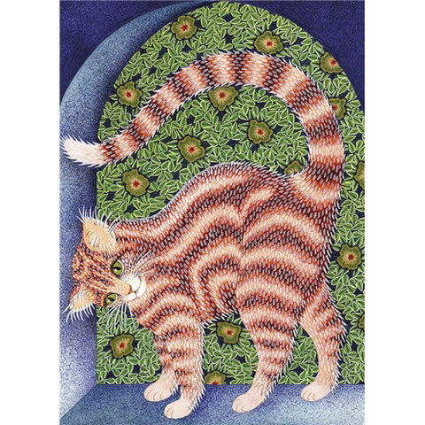 Chloe Buck Greetings Card - Cat Arch