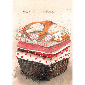 Alex Clark Animal Antics Card - Aaaah .... Bedtime