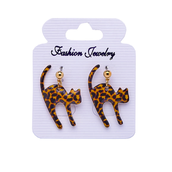 Bengal Cat Leopard Print Earrings
